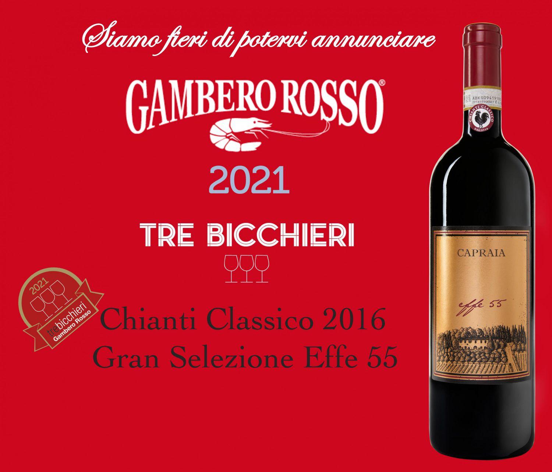 Tre Bicchieri Gambero Rosso Toscana 2021 - Premiato