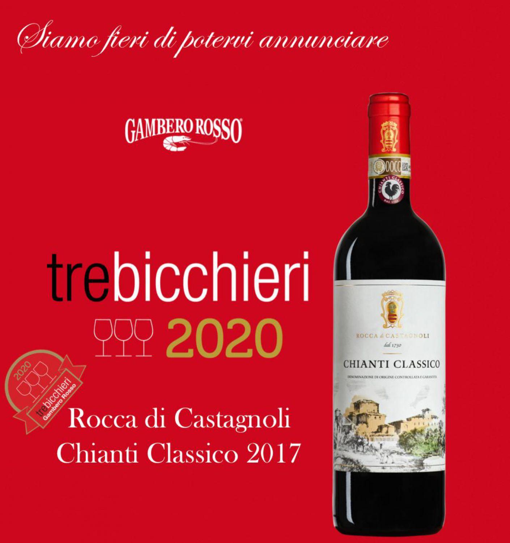 Tre Bicchieri Gambero Rosso for our Chianti Classico