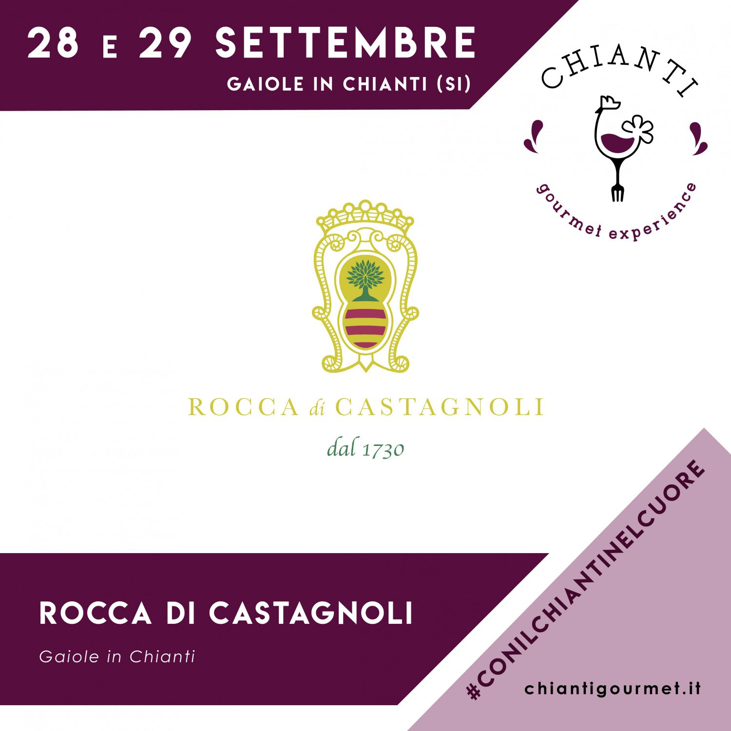 Rocca di Castagnoli will be present at the Chianti